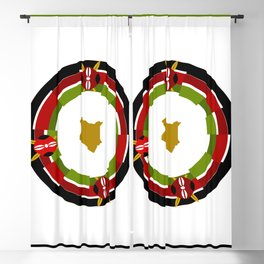 African Pattern Culture Blackout Curtain