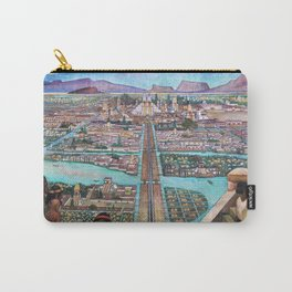 Mural of the Aztec city of Tenochtitlan by Diego Rivera Carry-All Pouch