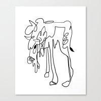 bull Canvas Prints featuring Bull by adventurouspebble