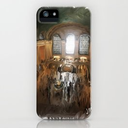Grand Central Terminal in Digital Oils iPhone Case
