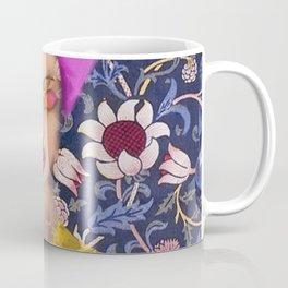 Enchanted Garden Romantic Floral Art Nouveau Watercolor Portrait Coffee Mug