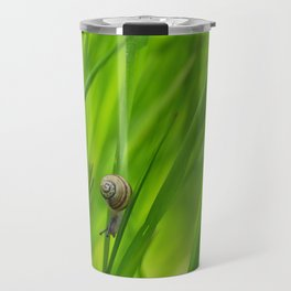 Little Snail in Gras Travel Mug