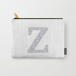 Floral Letter Z Carry-All Pouch