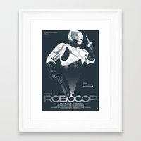 robocop Framed Art Prints featuring Robocop by Alain Bossuyt