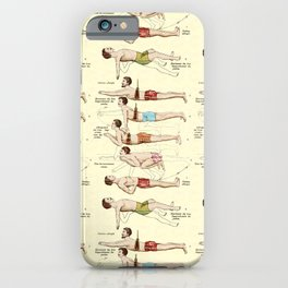 Old Fashioned Swimming Lessons iPhone Case