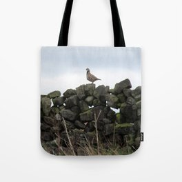 Partridge on a Wall Tote Bag