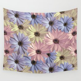 Pink Yellow Blue Wall Tapestry