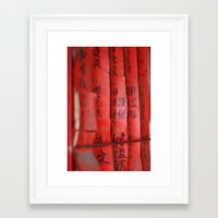 chinese Framed Art Prints featuring Chinese by FranzyCat