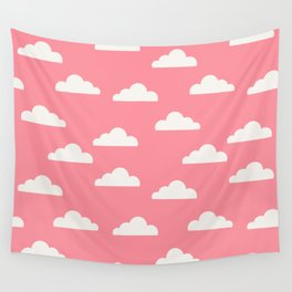 Clouds Pink Wall Tapestry