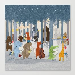little nature parade Canvas Print