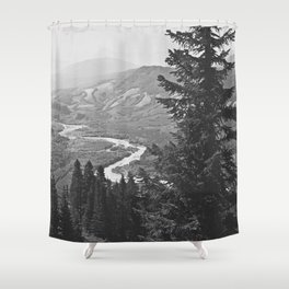 River through the Mountains Shower Curtain