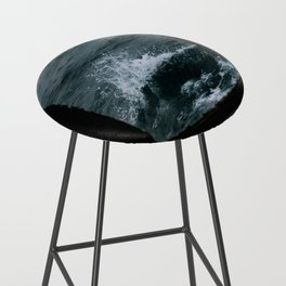 Wave out of a window of a ship – Minimalist Oceanscape Bar Stool