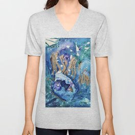 Golden Jellyfish Unisex V-Neck