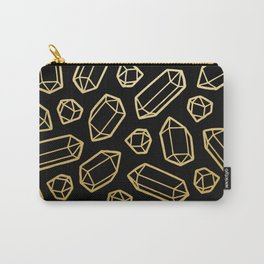 Black & Gold Crystal Pattern Carry-All Pouch