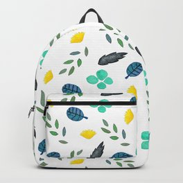 Fine summer floral naive pattern Backpack