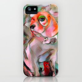 The Offended Beagle iPhone Case