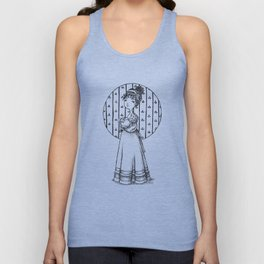 Lady and Cat Unisex Tank Top