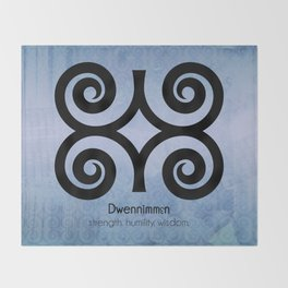 Dwennimmɛn - Adinkra Art Poster Throw Blanket