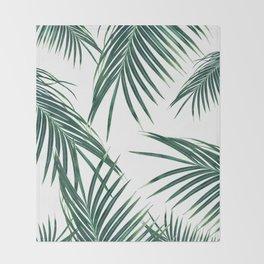 Green Palm Leaves Dream #2 #tropical #decor #art #society6 Throw Blanket