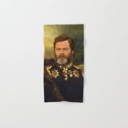 Nick Offerman Classical Painting Photoshop Hand & Bath Towel