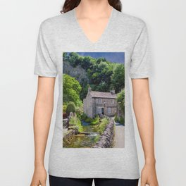 Peakshole Water Cottage  Unisex V-Neck