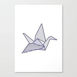Swan, navy lines Canvas Print