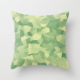 Geometric Shapes Fragments Pattern lgr Throw Pillow