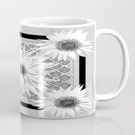 Black & white Floral  Pattern Art Coffee Mug