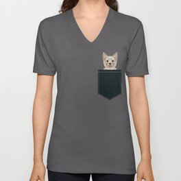 Tanner - Yorkshire Terrier gifts and gifts for dog person and dog people gift ideas Unisex V-Neck