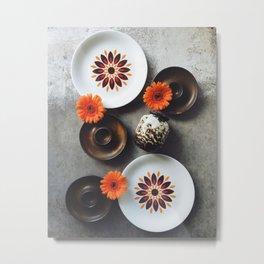 Ceramic flowers Metal Print