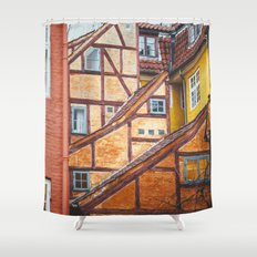 Scandinavian Architecture. Shower Curtain