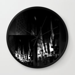 The City Colorless Wall Clock