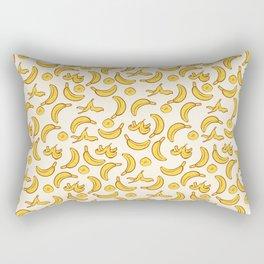 Yellow Banana Pattern Rectangular Pillow
