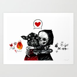 My dark and evil BFF Art Print