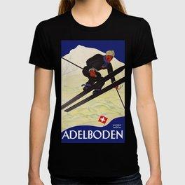 Vintage Adelboden Switzerland - Ski Jump T-shirt