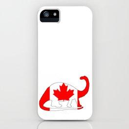 Canada Brontosaurus iPhone Case