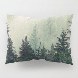Foggy Pine Trees Pillow Sham