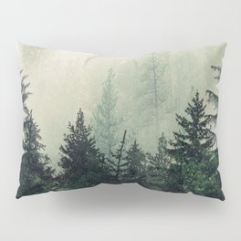Foggy Pine Trees Pillow Sham