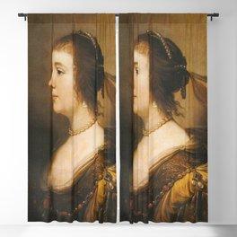 Gerard van Honthorst - Portrait of Amalia van Solms (1602-1675) Blackout Curtain