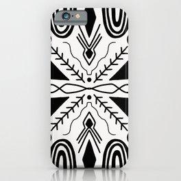 high desert, black & white iPhone Case