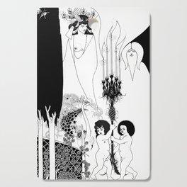 The Eyes of Herod - - By Aubrey Beardsley - Vintage Art Nouveau Print Cutting Board