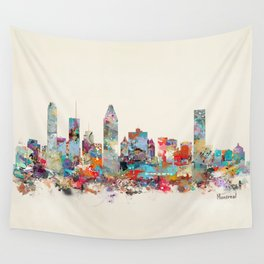 Montreal Quebec skyline Wall Tapestry