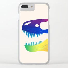 Tyrannosaurus Rex in Colours Clear iPhone Case