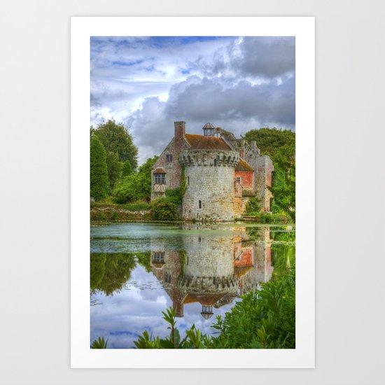 Scotney Castle Reflections Art Print