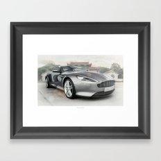 Aston Martin DB9 Framed Art Print
