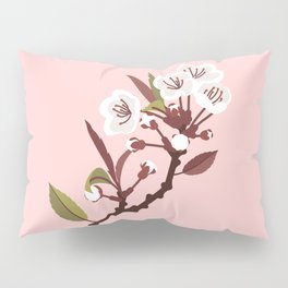 Spring Blossoms on Pink Pillow Sham