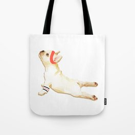 Upward Frenchie Tote Bag