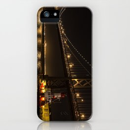 Bay Bridge Fire Boat at Night iPhone Case