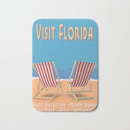 Florida Vintage Travel Poster Bath Mat