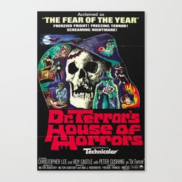 House of Horrors, doctor Terrors, vintage horror movie poster Canvas Print
